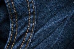 Blue denim jeans closed up texture Stock Photo