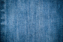 Blue denim jeans. Closed up texture Stock Photos