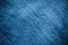 Blue denim jeans. Closed up texture Royalty Free Stock Images
