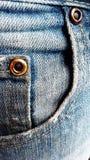 Blue denim pocket Stock Images