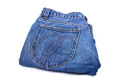 Blue denim jeans isolated Stock Image