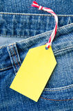 Blue denim jeans Stock Images