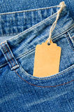 Blue denim jeans Royalty Free Stock Photography