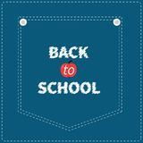 Blue denim jeans pocket dash line. Back to school. Stock Photo