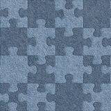 Blue denim jeans - puzzle pattern - seamless pattern Stock Photography