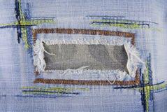 Blue denim jeans seam texture Royalty Free Stock Photo