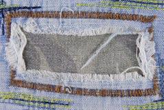 Blue denim jeans seam texture Stock Photo