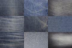 Blue denim jeans texture Royalty Free Stock Photo
