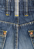 The blue denim jeans Stock Image