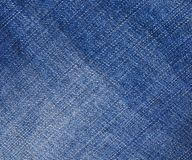Blue denim jeans texture Royalty Free Stock Photography