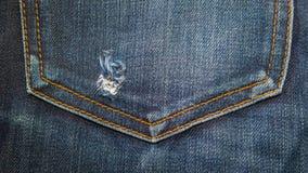 Blue denim jeans texture Stock Photography