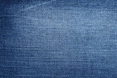 Blue denim jeans texture and background.  Stock Image