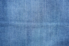 Blue denim jeans texture and background.  Royalty Free Stock Photo