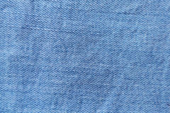 Blue denim jeans texture and background.  Royalty Free Stock Image