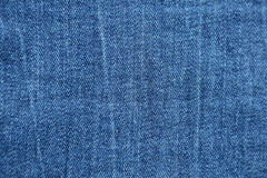 Blue denim jeans texture and background.  Royalty Free Stock Images