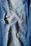 Blue denim jeans texture and background. Blue denim old jeans texture and background Royalty Free Stock Photo