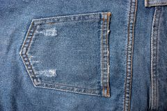 Blue denim jeans texture. Jeans background Texture of blue jean.  royalty free stock photo