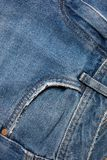 Blue denim jeans texture. Jeans background Texture of blue jean.  royalty free stock photography