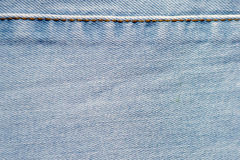 Blue denim jeans texture and background with seams. Blue denim jeans texture and background Royalty Free Stock Photos