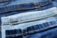 Blue denim jeans texture and background with seams. Blue denim jeans texture and background Stock Image