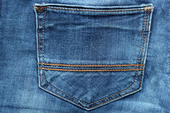 Blue denim jeans texture and background with seams. Blue denim jeans texture and background Jeans pocket Royalty Free Stock Photo