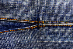 Blue denim jeans texture, background Royalty Free Stock Photo
