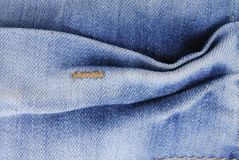 Blue denim jeans  texture Royalty Free Stock Photos