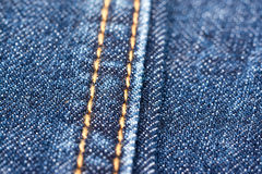 Blue Denim Jeans Texture With Seams Stock Photos