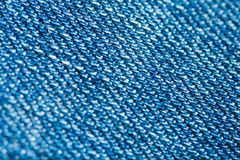 Blue denim macro Royalty Free Stock Photo