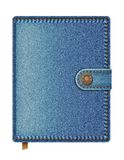 Blue denim notebook Stock Images