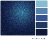 Blue denim palette Royalty Free Stock Photos