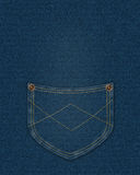 Blue denim pocket Stock Photography