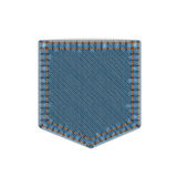 Blue Denim Pocket Royalty Free Stock Image