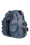 Blue denim  rucksack Stock Photos