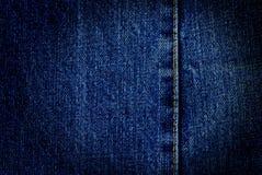 Blue denim with seam Royalty Free Stock Photos