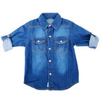 Blue denim shirt Stock Images
