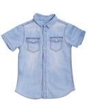 Blue denim shirt with Stock Photos