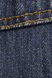 Blue Denim WIth Stitches Background Royalty Free Stock Image