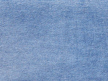 Blue denim textile texture. Royalty Free Stock Photos