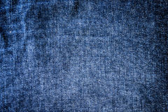 Blue denim texture Stock Photos