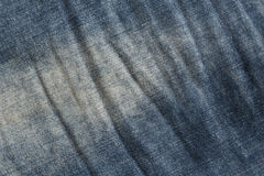 Blue denim texture. Stock Photo