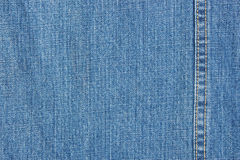 Blue denim texture. With stitch royalty free stock images