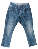 Blue denim trousers Stock Photos