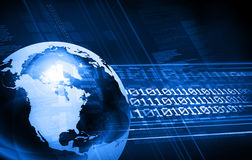 Blue design Stock Image
