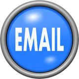 Blue design email in round 3D button. Blue design email in 3D button Stock Photos