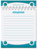 Blue design notebook Stock Images