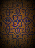 Blue Design on Wood 1. An ornate design on grungy wood Royalty Free Stock Photo