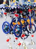 Blue designer jewelry background. Blue designer jewelry with blurry background Royalty Free Stock Image