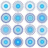 Blue designs. Blue circular ornamental designs for christmas - VECTOR Stock Photo