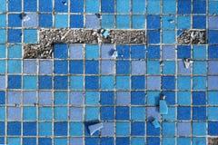 Blue destroyed mosaic background Royalty Free Stock Photos